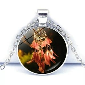 Other - Dream Catcher Tibet Silver Glass Cabochon Necklace